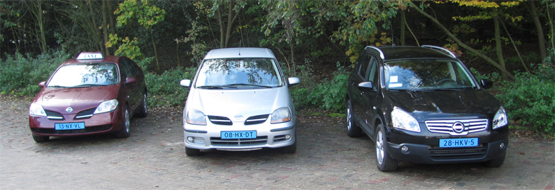 Diverse soorten Personenwagens